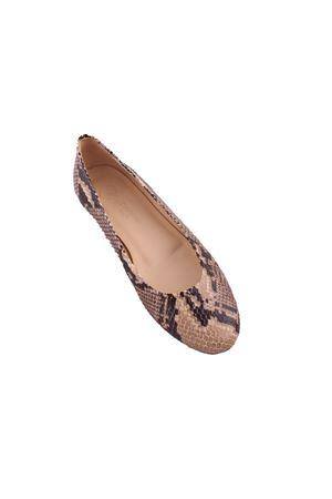 Phyton ballerina shoes Da Costanzo | 5032261 | PITONEBEIGE