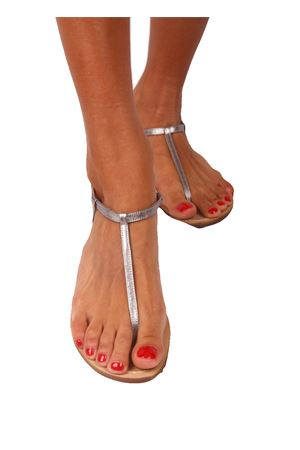 Capri sandals flipflop model Da Costanzo | 5032256 | S1918ARGENTO