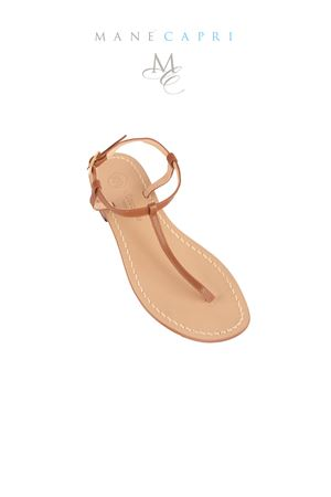 Gold handmade sandals Da Costanzo | 5032256 | S1918MARRONE