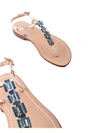 Blue Jewel Capri Sandals Da Costanzo | 5032256 | S2872AZZURRO