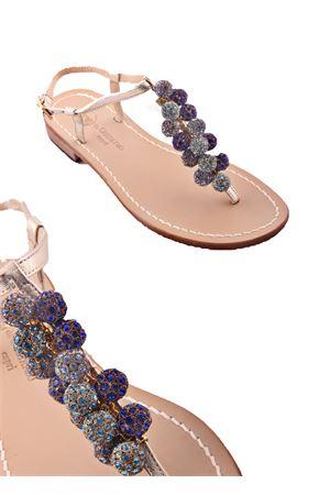 Sandalo caprese gioiello con pietre blu e azzurre Da Costanzo | 5032256 | S3088BLU