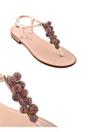 Capri Jewel Sandals with purple stones Da Costanzo | 5032256 | S3088VIOLA