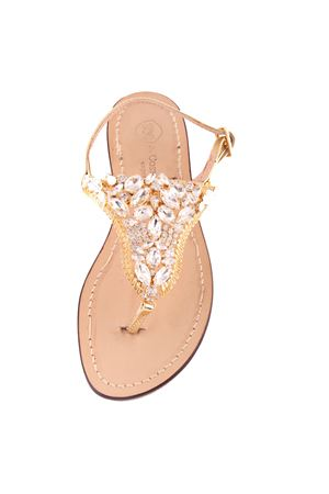 Jewel Capri sandals  Da Costanzo | 5032256 | S3327CRYORO