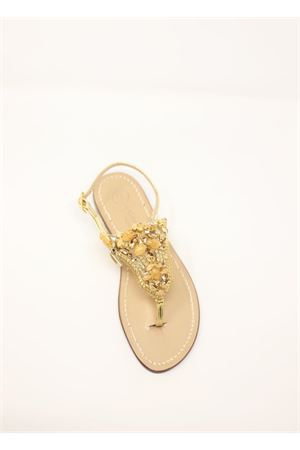 Pink and gold jewel Capri sandals  Da Costanzo | 5032256 | S3327PESCA