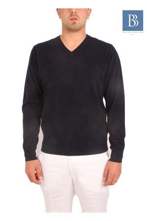 Maglia da uomo in cachemere blu Denny | 7 | COLLOVBLU