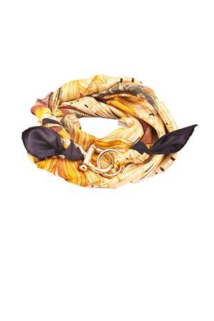 Foulard in seta stampato con gancio ornamentale Grakko Fashion | -709280361 | GR112NERO