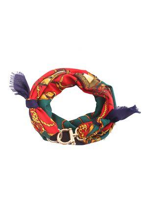 Foulard rosso in lanetta con fantasia catene Grakko Fashion | -709280361 | GR144ROSSO