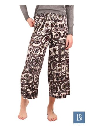 Large silk pants Capri style Laboratorio Capri | 9 | LAB128KIMONO GREY