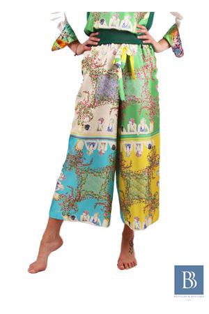Wide silk trousers in pure silk Laboratorio Capri | 9 | LAB140DONNE DI CAPRI