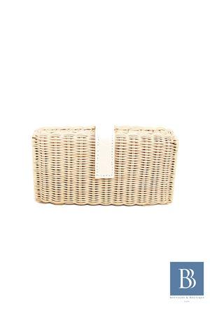 Pith handmade clutch Laboratorio Capri | 31 | LAB156BIANCO
