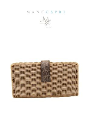 Pith handmade clutch Laboratorio Capri | 31 | LAB156GRIGIO