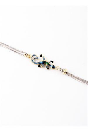 Bracciale in argento con Lucertola azzurra Pierino Jewels | 36 | 3046AAZZURRA