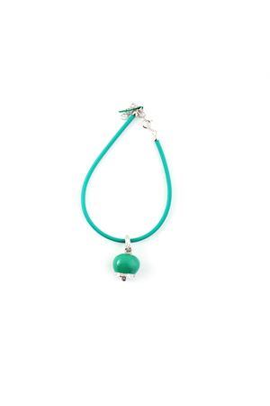 Bracelet with silver enamelled Capri Bell pendant