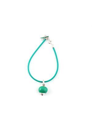 Bracelet with silver enamelled Capri Bell pendant Pierino Jewels | 36 | SMALT BRACC GRVERDE