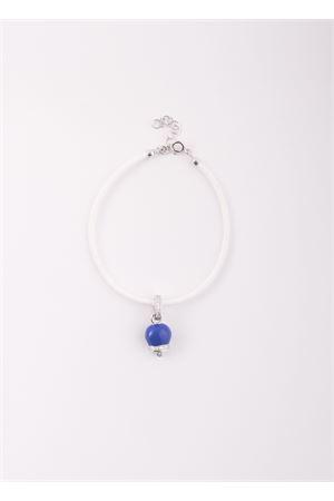 Bracelet with silver enamelled Capri Bell pendant Pierino Jewels | 36 | SMALT BRACC PICCBLU