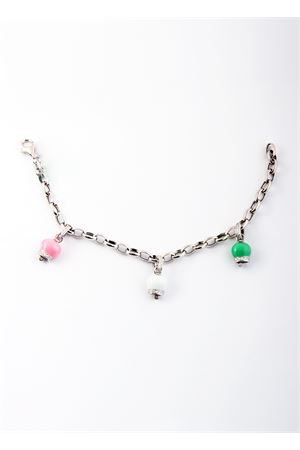 Silver bracelet with three silver Capri Bell pendants Pierino Jewels | 36 | TRIO SMALTO PICCMULTICOLOR