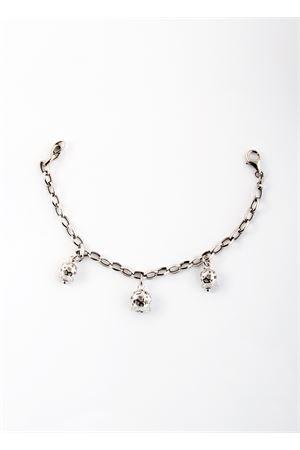 Silver bracelet with three silver  perforated Capri Bell pendants Pierino Jewels | 36 | TRIO TRAFORATEMULTICOLOR