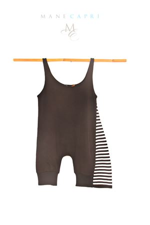 Black and white stripes romper suit Amina Rubinacci | 19 | AR40BIANCONERA