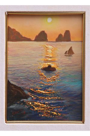 Oil on canvas depicting Faraglioni of Capri Island Antonio Palomba | 20000003 | ALBA F13X18
