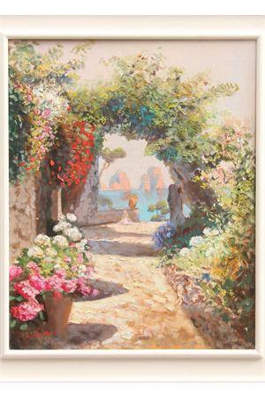 Olio su tela Faraglioni di Capri con arco Antonio Palomba | 20000003 | ARCO FARAGLIONI40X50