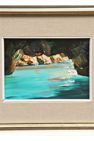 Green Grotto painting Art from Italy Antonio Palomba | 20000003 | GROTTA VERDE13X18