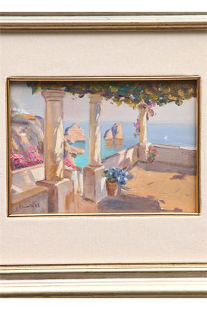 Capri pergola oil on canvas Antonio Palomba | 20000003 | PERGOLATO13X18