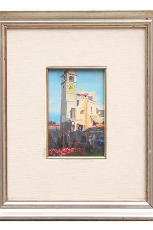 Piazzetta di Capri - oil on canvas- Art from Italy Antonio Palomba | 20000003 | PIAZZETTA - ARTE10X15