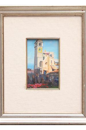 Piazzetta di Capri - olio su tela Antonio Palomba | 20000003 | PIAZZETTA - ARTE10X15