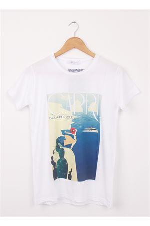 T-shirt in cotone Isola del Sole Aram Capri | 8 | 110002016AZZURRO
