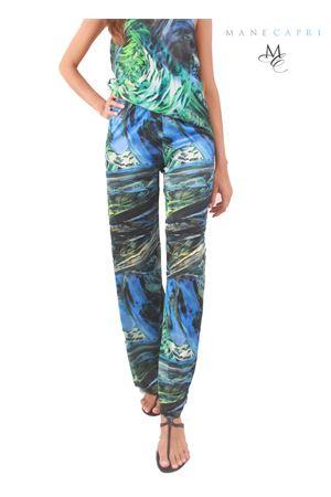 Pantalone in jersey elasticizzato a fantasia Capri Chic | 9 | FORESTA PANTVERDE