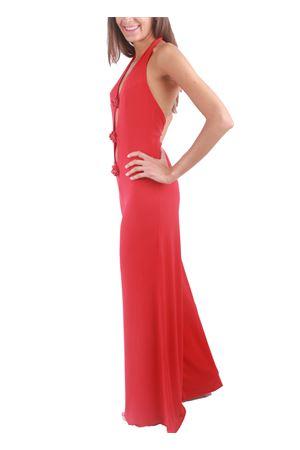 Tuta lunga rossa elegante con scollo sulla schiena Capri Chic | 19 | REDCHICROSSO