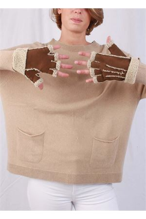 Fingerless lined gloves Capri Gloves | 34 | CG213MARRONE