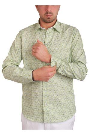 Pure cotton shirt with green pattern Colori Di Capri   6   7469VERDE