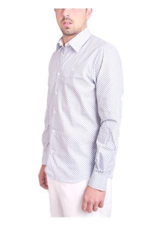 Cotton shirt with beach umbrella pattern Colori Di Capri   6   7471 REGAZZURRO