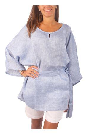 Blusa in lino taglia unica Colori Di Capri | 5032233 | BLOUSE BELTAZZURRO