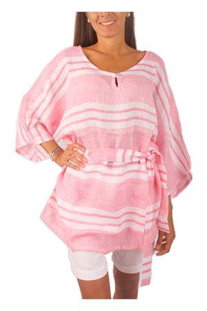 Blusa 100% lino con cintura Colori Di Capri | 5032233 | BLOUSE BELTROSA