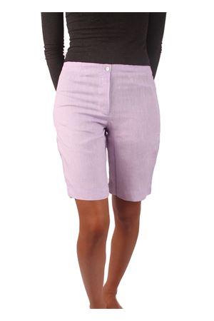 Liliac linen bermuda shorts Colori Di Capri | 9 | CORTODONNALILLA