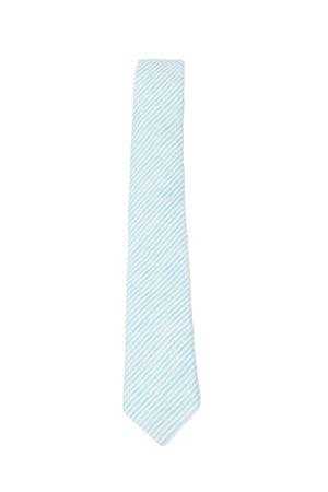 Cravatta in lino turchese Colori Di Capri | 25 | LINENTIESTRIPETURCHESE