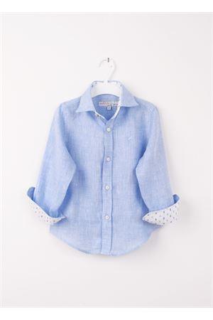 Camicia da bambino in cotone Colori Di Capri | 6 | LINUS BABYAZZURRO