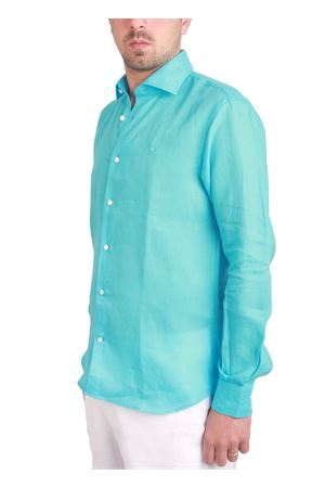 Camicia turchese in lino Colori Di Capri | 6 | LINUS0010TTURCHESE