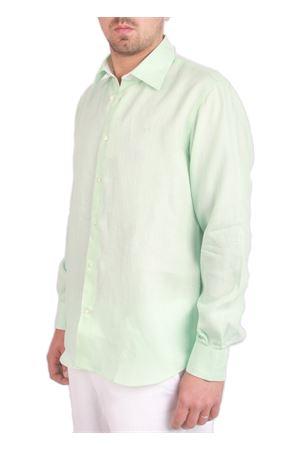 Camicia in lino verde tiffany Colori Di Capri | 6 | LINUS0010VERDE