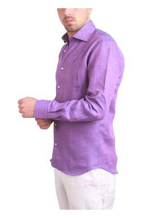 Violet linen shirt Colori Di Capri | 6 | LINUS1610VIOLA