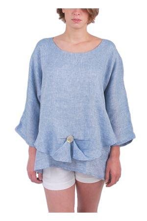 Light blue linen tunic  Colori Di Capri | 5032233 | LONDRAAZZURRO