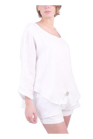 White tunic in linen Colori Di Capri | 5032233 | LONDRABIANCO