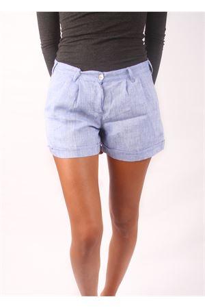 Woman linen shorts  Colori Di Capri | 30 | SHORT DONNAAZZURRO