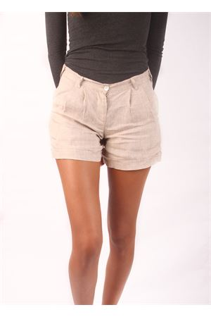 Beige linen shorts for woman  Colori Di Capri | 30 | SHORT DONNABEIGE
