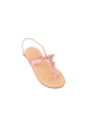 Pink jewel Capri sandals  Cuccurullo | 5032256 | BABY GIRL PINROSA