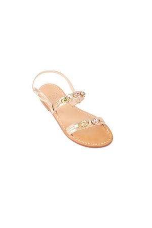 Double stripes jewel capri sandals Cuccurullo | 5032256 | DOPPA FASCIAORO