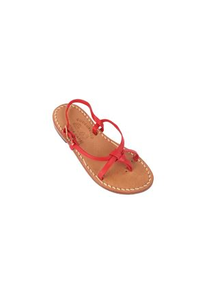 Red Capri sandals for babygirl Cuccurullo | 5032256 | INCROCIO ROSSOROSSO