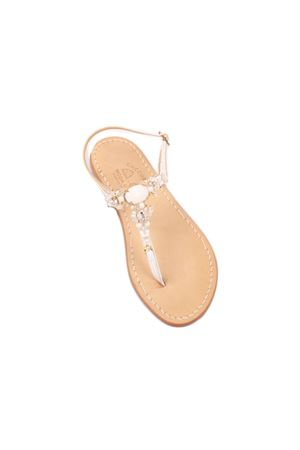 White jewel Capri sandals Cuccurullo | 5032256 | LELIABIANCO